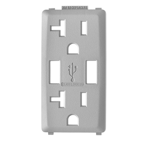 Renu Color Change Kit RKAA2 for Renu 20A USB Charger/Tamper-Resistant Receptacle/Outlet - Pebble Grey, RKAA2-PG