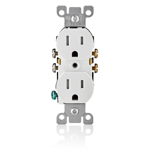 15-Amp, 125-Volt, Tamper Resistant, Duplex Receptacle, Residential Grade, Grounding, Various Colors, T5320