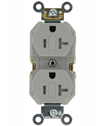 20 Amp, Duplex Receptacle, Tamper-Resistant, Straight Blade ...