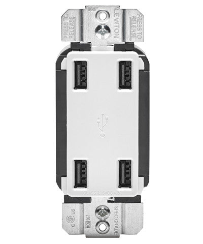 4.2-Amp High Speed 4-Port USB Charger, USB4P - Leviton - 1