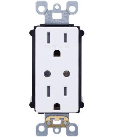 LevNet RF Split Duplex TR Receptacle with LED Locator, WSG15-DZ - Leviton