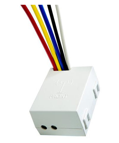 5-Wire Relay Receiver, 240V, White, WSP12-080 - Leviton