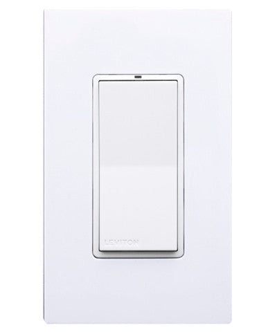 LevNet RF 902MHz Decora Rocker Wall Switch Receiver, Non-Neutral, WSS20-G9N - Leviton
