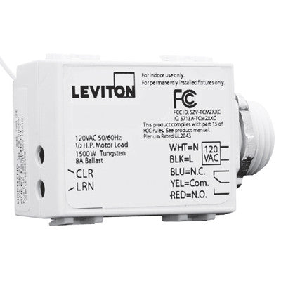 LevNet RF Threaded Mount 5-Wire 300 Relay Receiver, 24VAC, WST02-R10 - Leviton