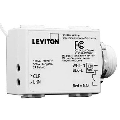 LevNet RF Threaded Mount 3-Wire 1200 Relay Receiver, 277VAC, WST05-020 - Leviton