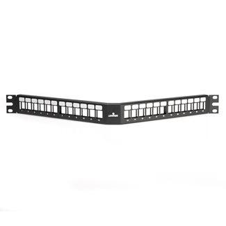 QuickPort Angled Patch Panel, 24-Port, 1RU, 49256-H24