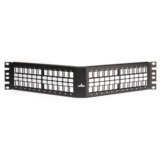 QuickPort Angled Patch Panel, 48-Port, 2RU, 49256-H48