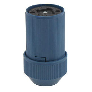 30 Amp-600VAC / 20Amp-250 Volt DC 4-Pole 5-Wire Grounding. Locking Connector - BLUE,  25414-B