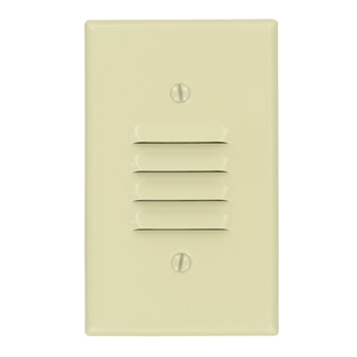 1-Gang Louvre Device Louvre Wallplate, Standard Size, Painted Metal, Strap Mount, - Ivory, 86080
