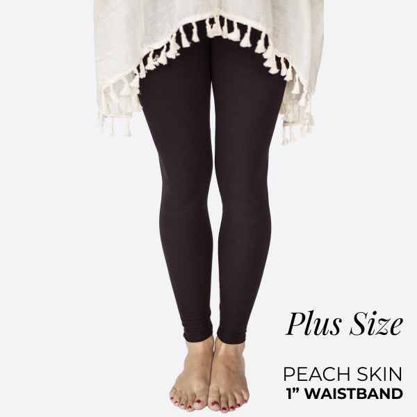 Peach Skin Leggings - Curvy