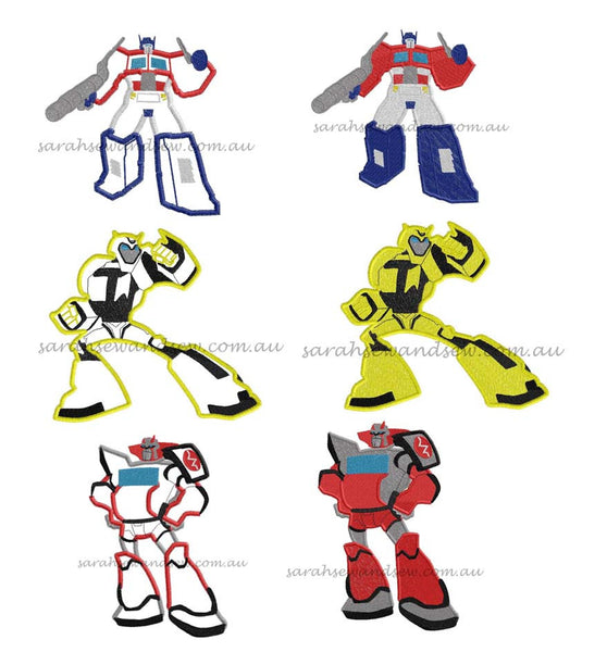 Transformers Embroidery Designs