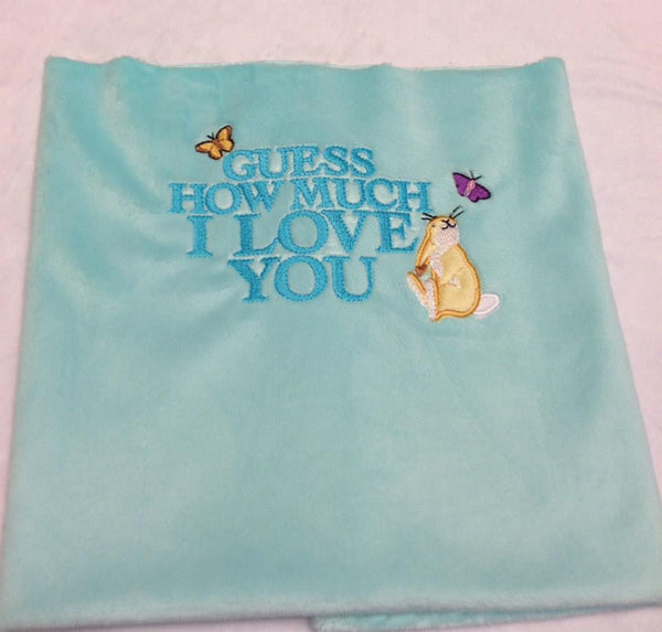 Guess How Much I Love You Logo Embroidery Design - Sarah Sew and Sew
