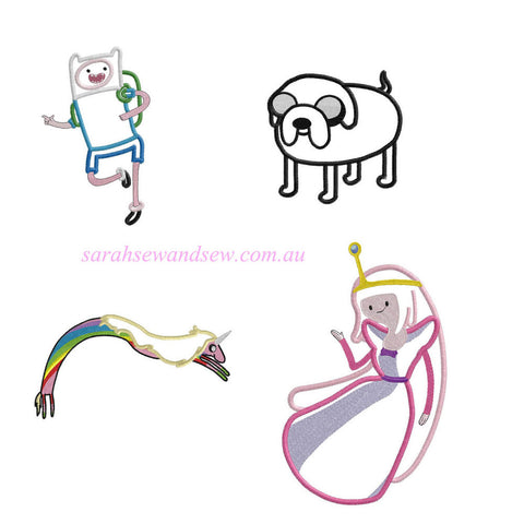 Adventure Time Embroidery Design - Sarah Sew and Sew