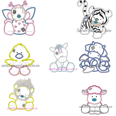 Blue Nosed Friends Embroidery Design Set - Sarah Sew and Sew