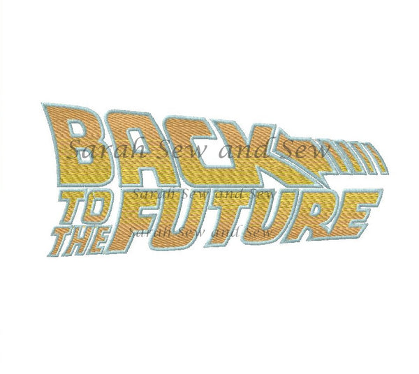 Back to the Future Logo Embroidery Design