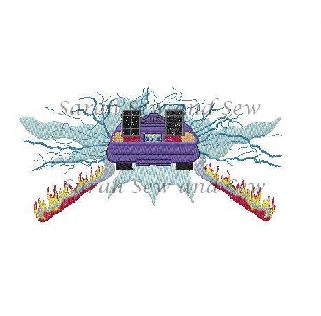 Back to the Future Embroidery Design