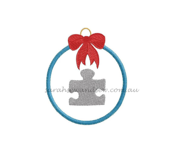 Christmas Bauble Embroidery Design - Sarah Sew and Sew