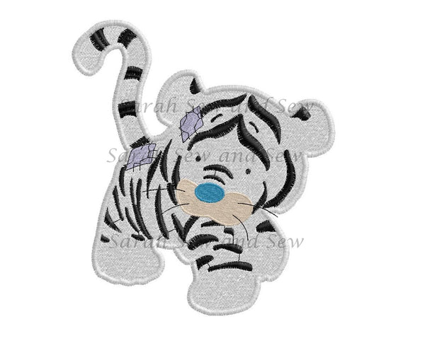 Bengal Blue Nosed Friends Embroidery Design - Sarah Sew and Sew