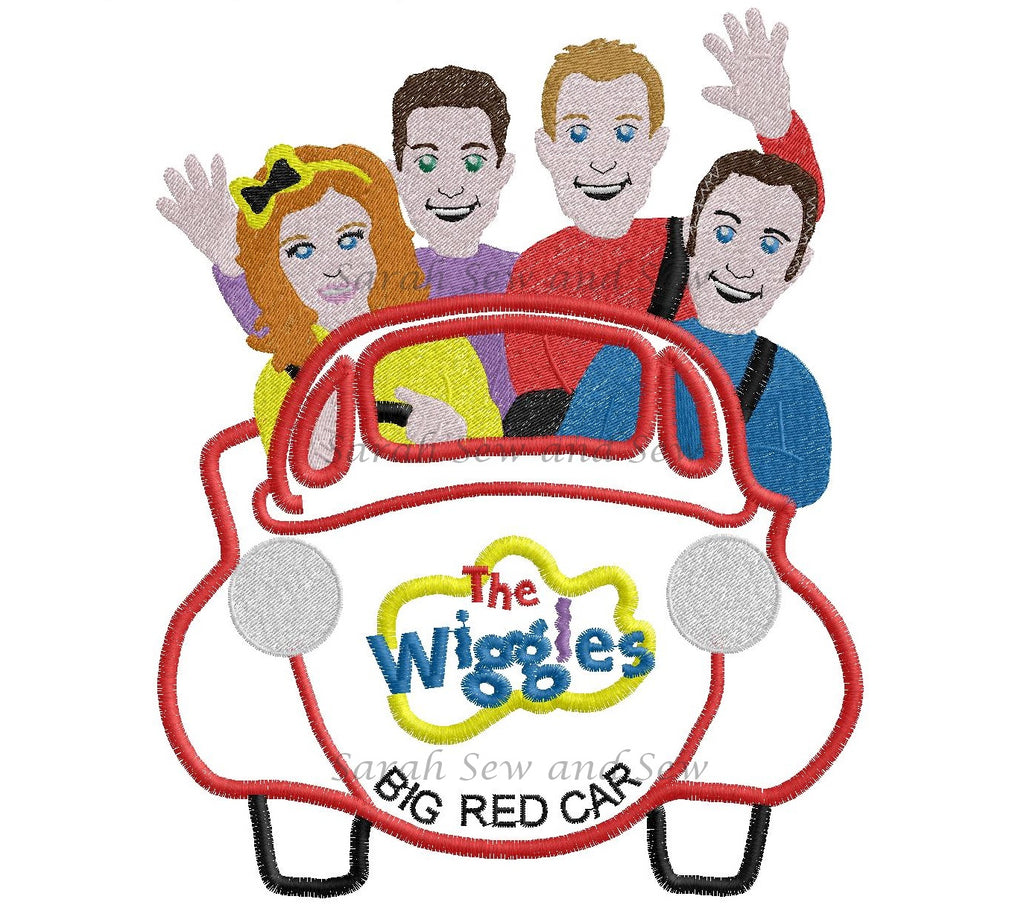 The Wiggles Big Red Car Embroidery Design - Sarah Sew and Sew