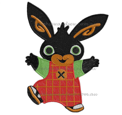 Bing Bunny Embroidery Design - Sarah Sew and Sew