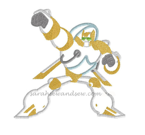 Boulder Transformers Rescue Bot Embroidery Design- Sarah Sew and Sew