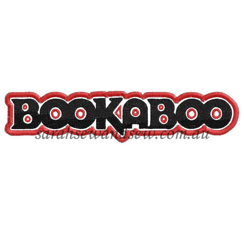 Bookaboo Logo Embroidery Design - Sarah Sew and Sew