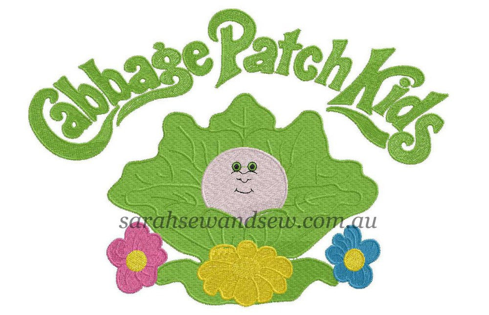 Cabbage Patch Kids Embroidery Design - Sarah Sew and Sew