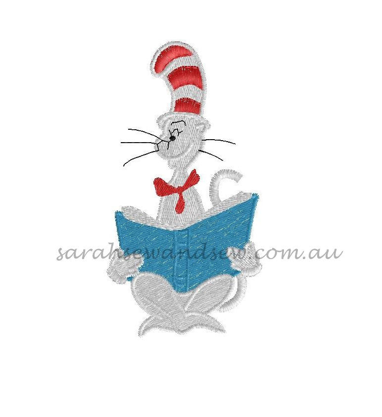 Cat in the Hat Embroidery Design - Sarah Sew and Sew