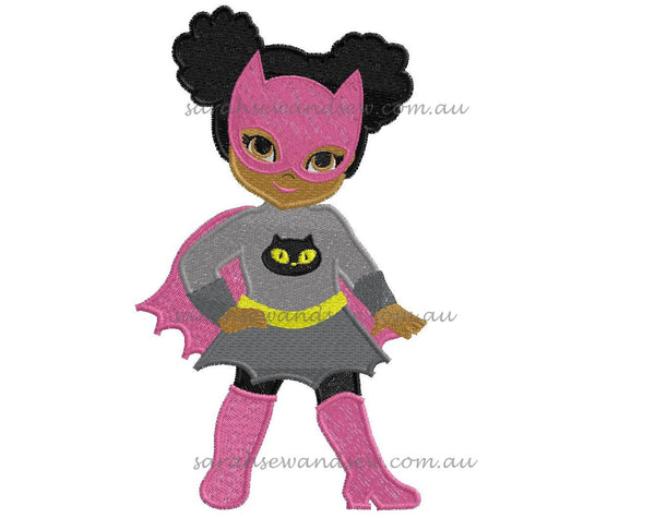 Catwoman Embroidery Design - Sarah Sew and Sew
