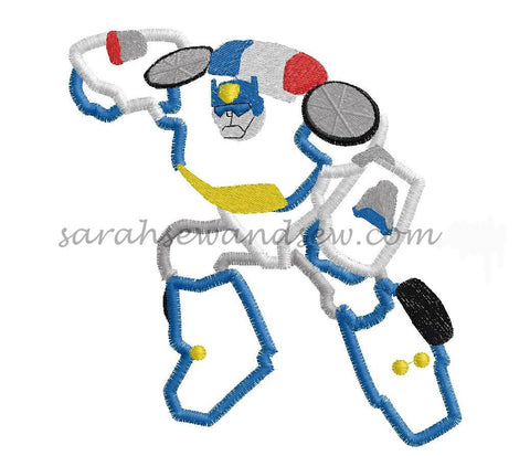 Chase Transformers Rescue Bot Embroidery Design