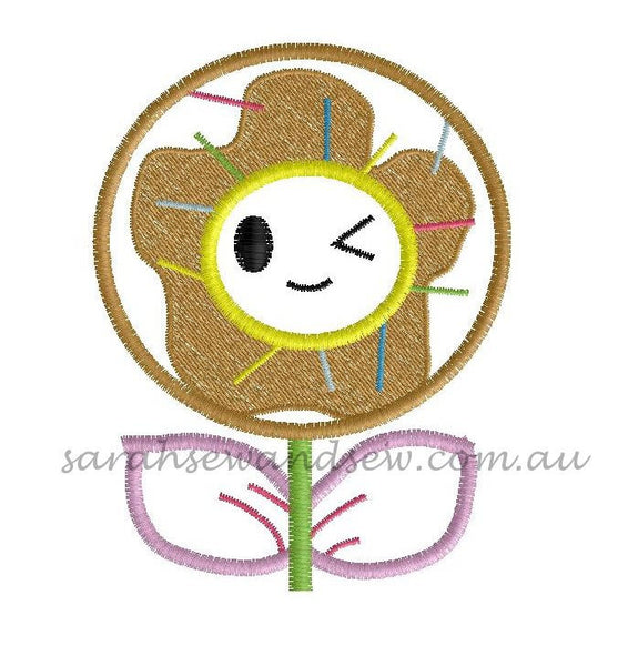 Tokidoki Flowers Embroidery Design - Sarah Sew and Sew