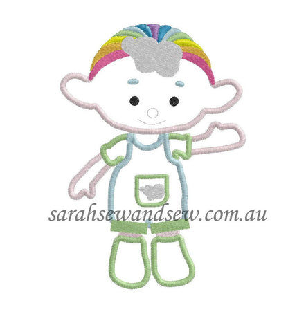 Cloud Babies Green Embroidery Design - Sarah Sew and Sew