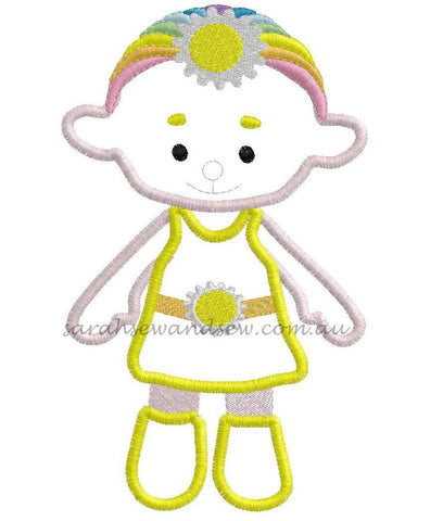 Cloud Babies Yellow Embroidery Design - Sarah Sew and Sew