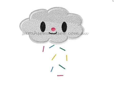 Tokidoki Cloud Embroidery Design - Sarah Sew and Sew