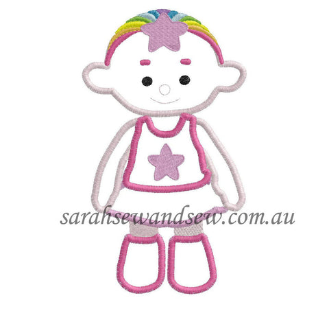Cloud Babies Pink Embroidery Design - Sarah Sew and Sew