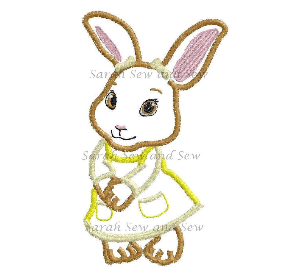 Cotton-Tail Embroidery Design - Sarah Sew and Sew