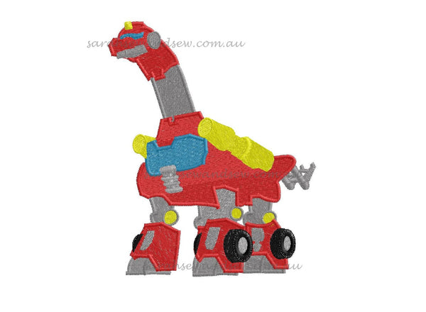 Heatwave -Dinobot- Rescue Bots - Embroidery Design - Sarah Sew and Sew