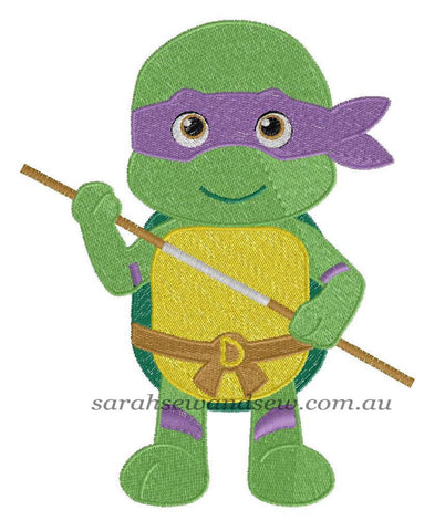 Donatello Embroidery Design - Sarah Sew and Sew