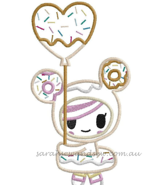 Donutella (Tokidoki) Embroidery Design - Sarah Sew and Sew
