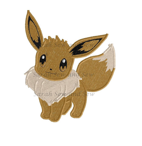 Eevee Embroidery Design