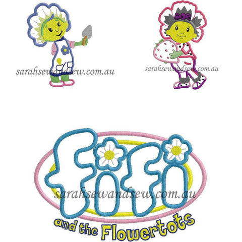 Fifi and the Flowertots Embroidery Design Set - Sarah Sew and Sew