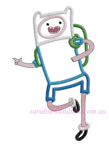 Finn Adventure Time Embroidery Design - Sarah Sew and Sew