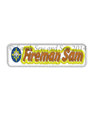Fireman Sam Logo Embroidery Design - Sarah Sew and Sew