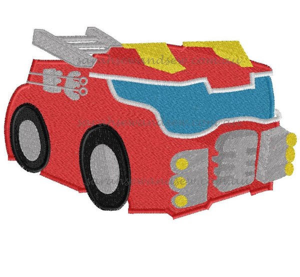 Heatwave - Fire Truck - Rescue Bots - Embroidery Design