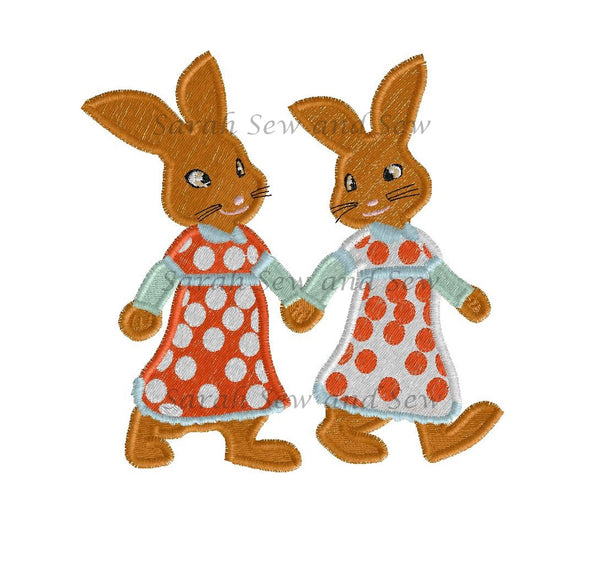 Flopsy and Mopsy Embroidery Design - Sarah Sew and Sew