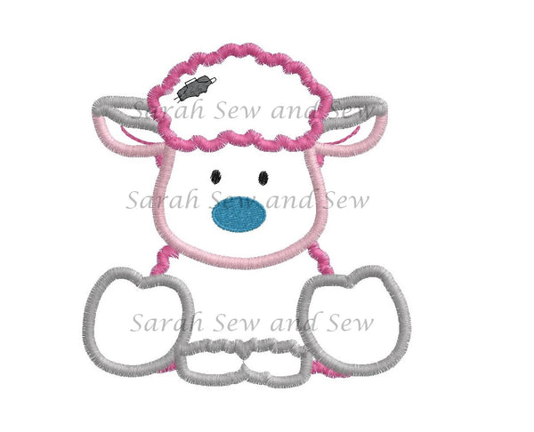 Frizzie Blue Nosed Friends Embroidery Design - Sarah Sew and Sew