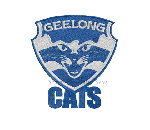Geelong Cats Embroidery Design