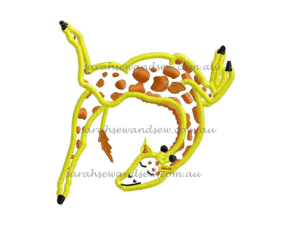 Gerald the Giraffe Embroidery Design - Sarah Sew and Sew