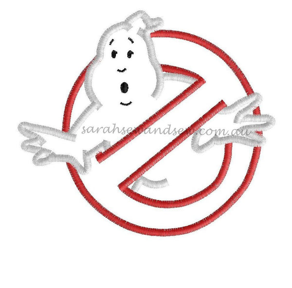 Ghostbusters Logo Embroidery Design - Sarah Sew and Sew