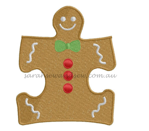 Gingerbread Puzzle Piece - Sarah Sew and Sew